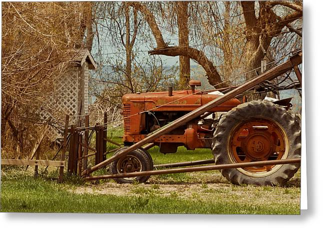 Tractor On Us 285 Greeting Card