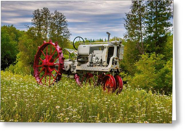 Tractor Out To Pasture Greeting Card