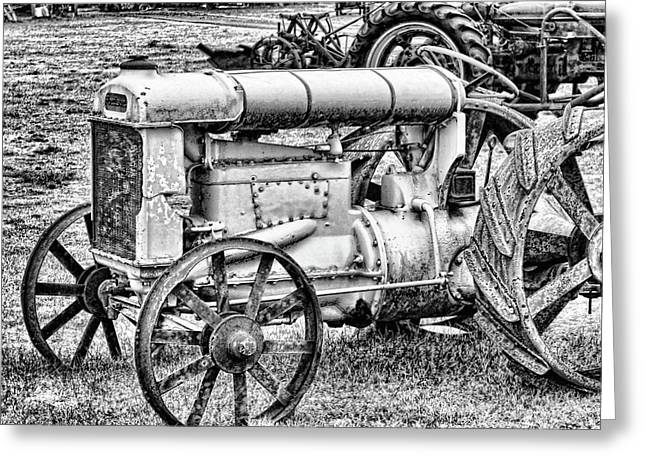 Greeting Card featuring the photograph Tractor by Ron Roberts