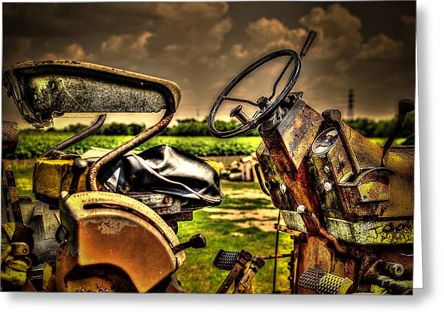 Tractor Seat Greeting Card