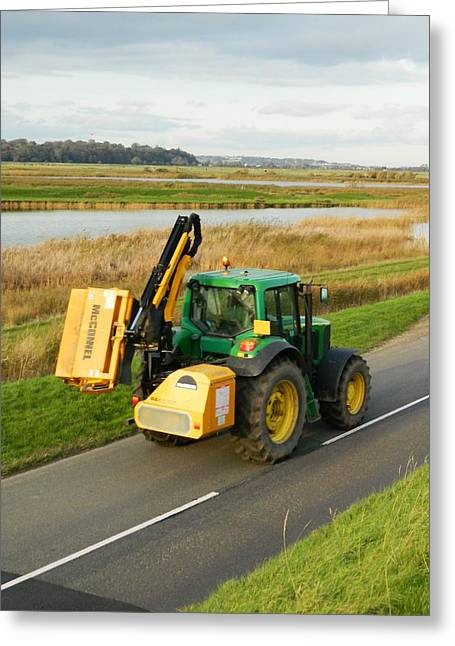 Tractor Greeting Card by Sharon Lisa Clarke