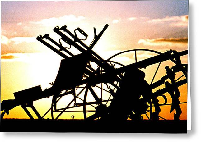 Tractor Silhouette Greeting Card by Kimberleigh Ladd