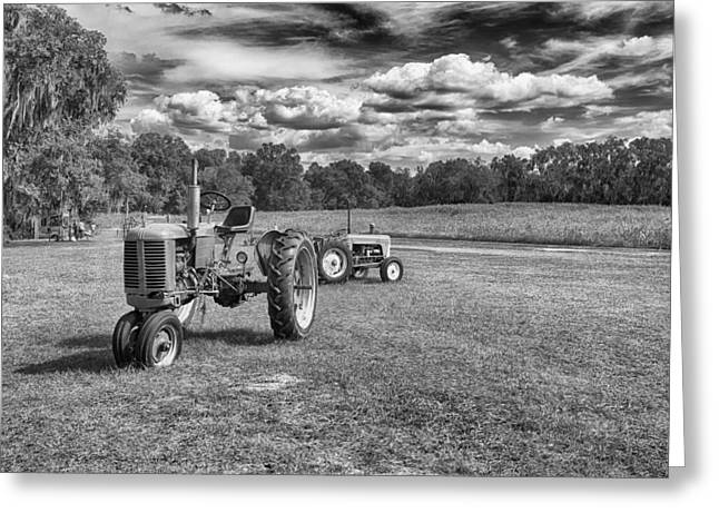 Greeting Card featuring the photograph Tractors by Howard Salmon