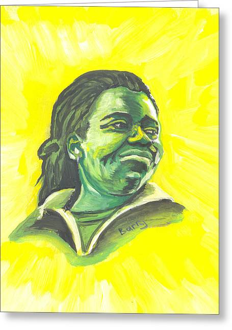 Tracy Chapman 01 Greeting Card by Emmanuel Baliyanga