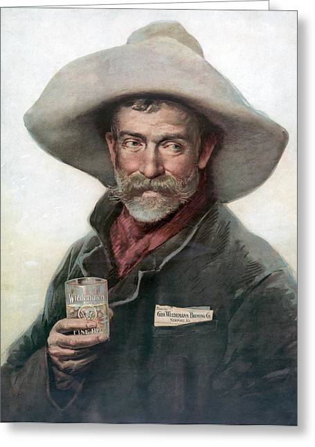 Trade Card Beer, C1880 Greeting Card by Granger