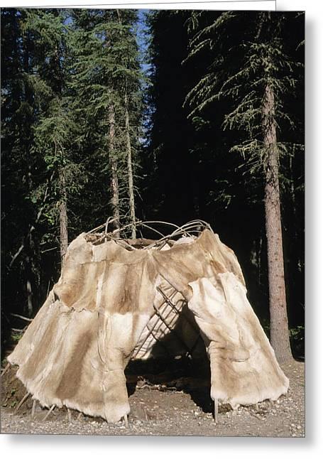 Traditional Athabaskan Dome Shaped Greeting Card