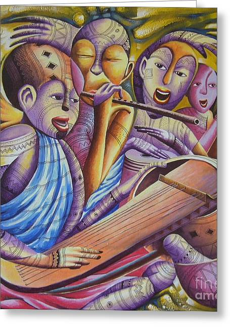Traditional Band From East Africa  Greeting Card by Masoud Kibwana