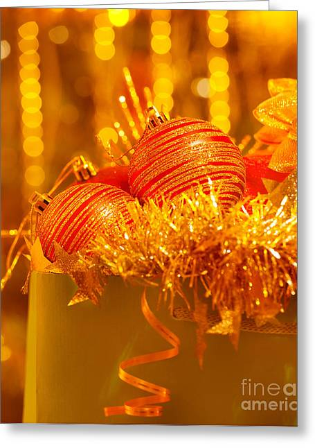Traditional Christmas Decoration Greeting Card