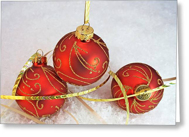 Traditional Christmas Decorations Greeting Card