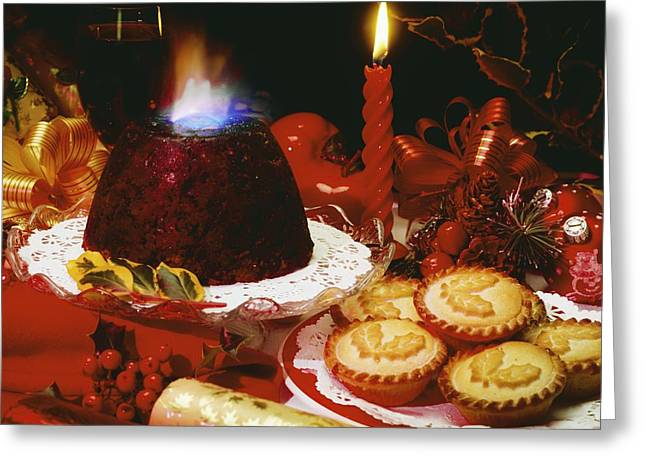 Traditional Christmas Dinner In Ireland Greeting Card by The Irish Image Collection