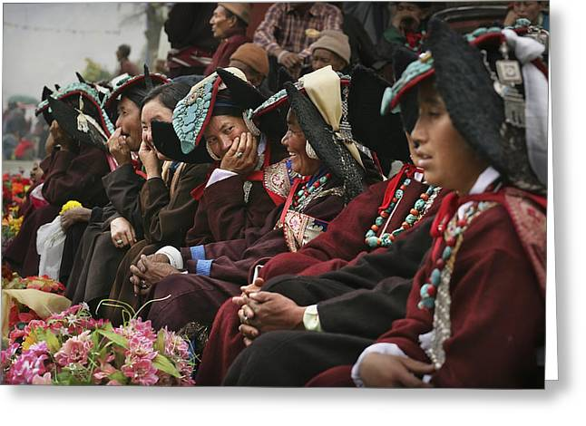 Traditional Dresses At Diskyid Festival Greeting Card