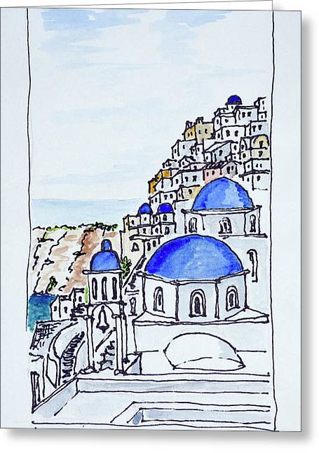 Traditional Greek Architecture Greeting Card