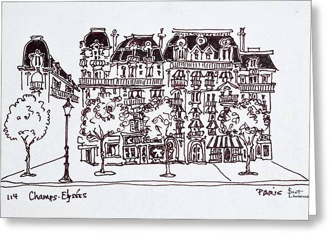 Traditional Haussmann Architecture Greeting Card
