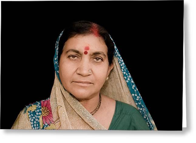 Traditional Hindu Woman Greeting Card