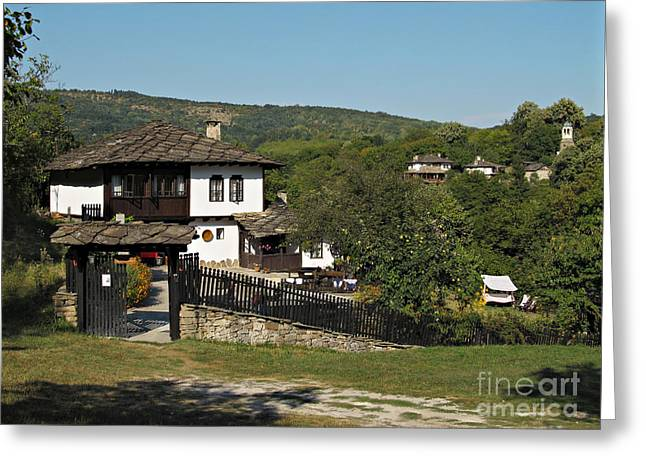 Traditional House In Architectural Preserve Bojenci Greeting Card by Kiril Stanchev