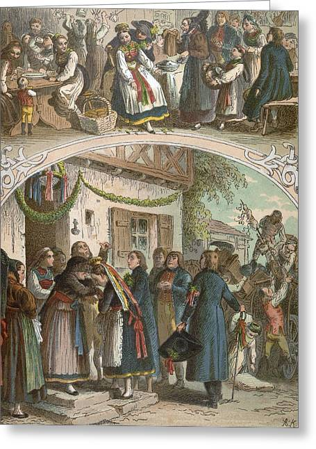 Traditional Hungarian Wedding, Hungary, 19th Century Greeting Card