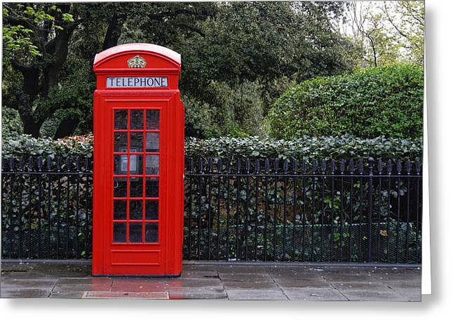 Traditional Red Telephone Box In London Greeting Card