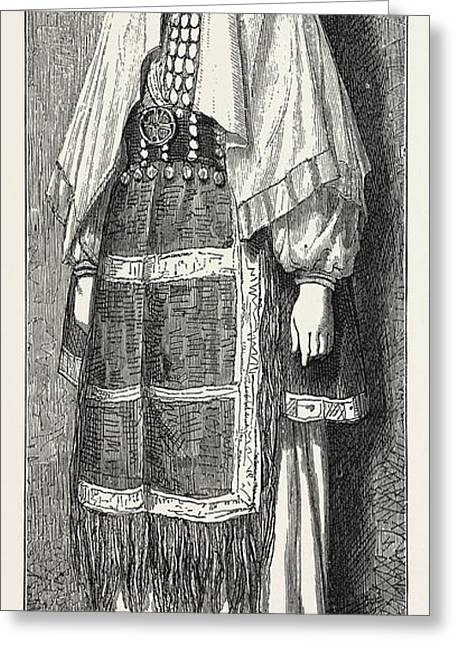 Traditional Slavonic Dress Greeting Card