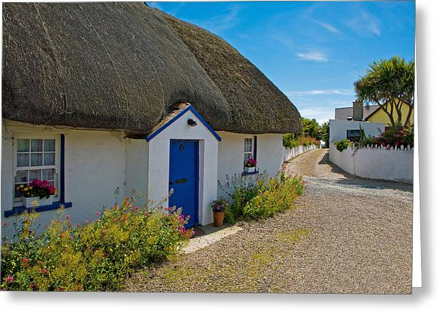 Traditional Thatched Cottage, Kilmore Greeting Card