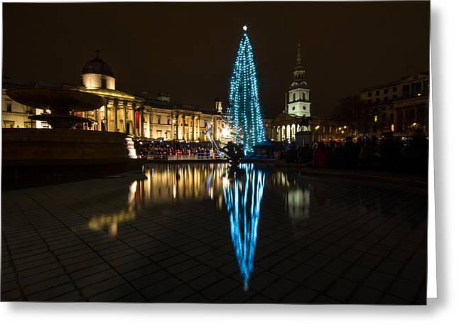 Trafalgar Christmas Tree Greeting Card by Dawn OConnor