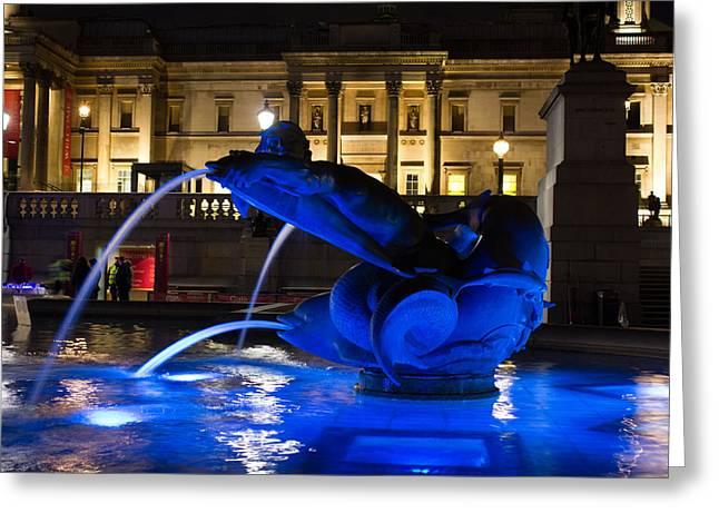 Trafalgar Square At Night Greeting Card