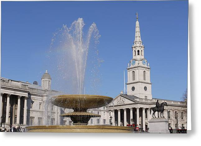 Trafalgar Square Fountain. Greeting Card