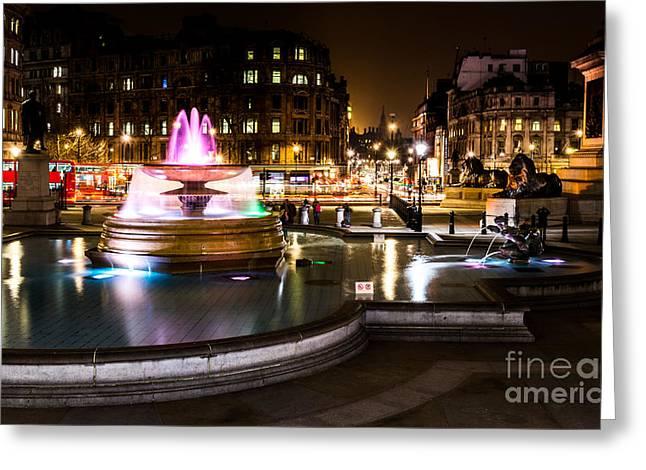 Greeting Card featuring the photograph Trafalgar Square by Matt Malloy
