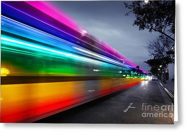 Traffic In Los Angeles Greeting Card by Konstantin Sutyagin