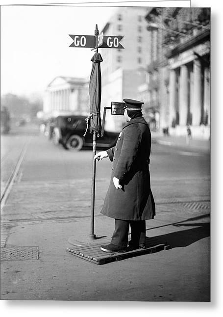 Traffic Officer Greeting Card by Library Of Congress