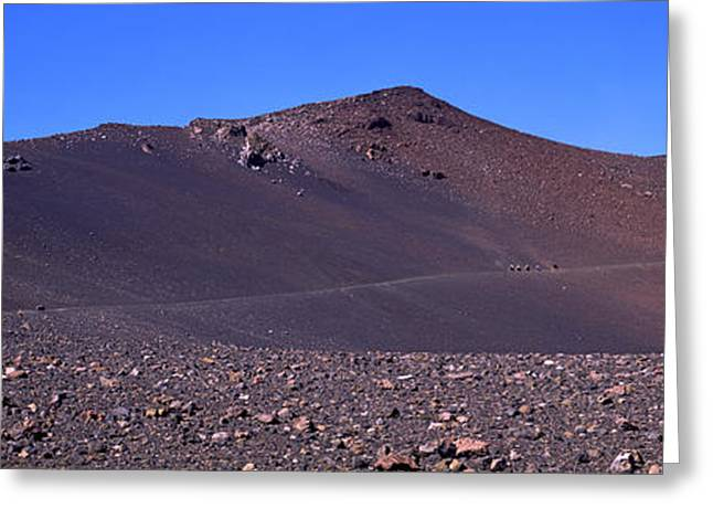 Trail In Volcanic Landscape, Sliding Greeting Card by Panoramic Images