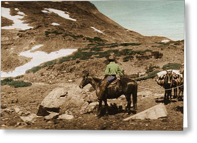Greeting Card featuring the photograph Trail Ride Two by Ron Crabb