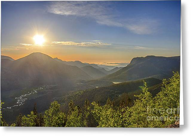Trail Ridge Road Sunrise Greeting Card