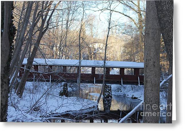 Trail River Covered Bridge Greeting Card
