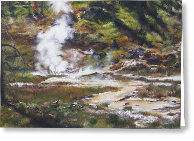 Trail To The Artists Paint Pots - Yellowstone Greeting Card