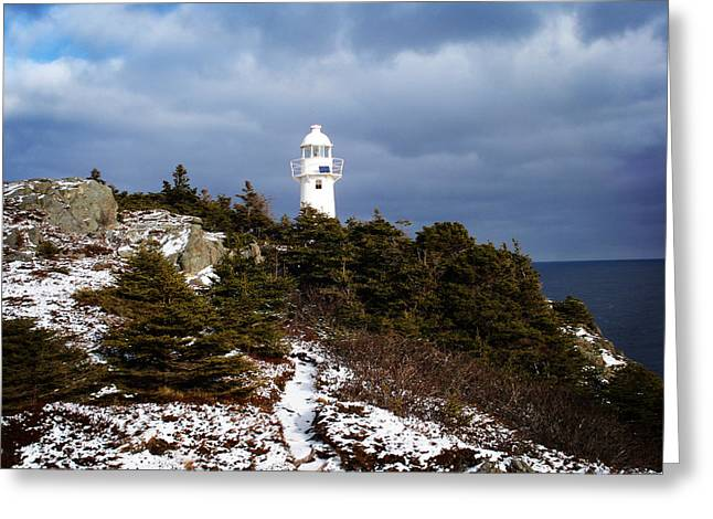 Trail To The Lighthouse Greeting Card