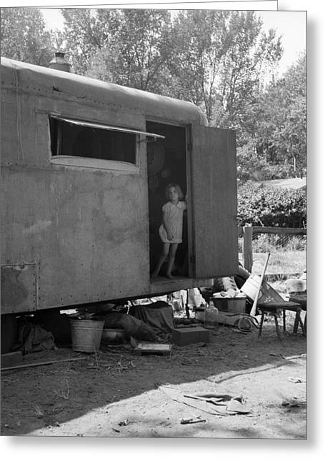 Trailer Home, 1939 Greeting Card by Granger