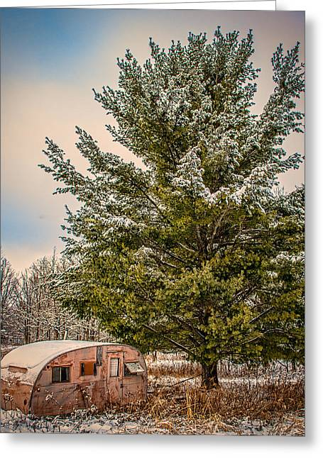 Trailer Trash Greeting Card by Paul Freidlund