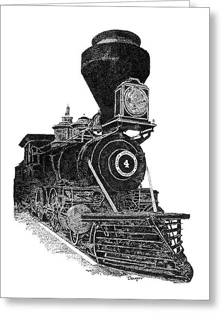Train 3 Greeting Card