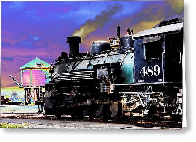 Train 489 Greeting Card by Steven Bateson