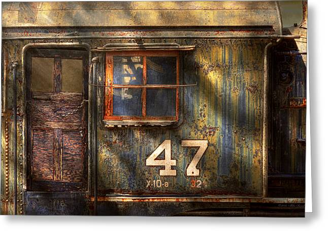 Train - A Door With Character Greeting Card by Mike Savad