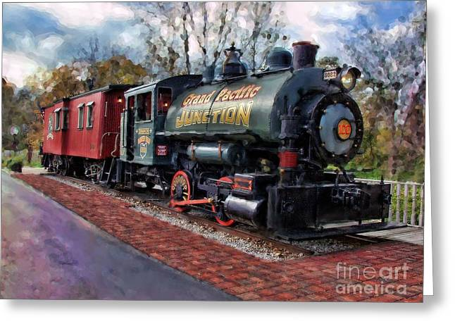 Train At Olmsted Falls - 1 Greeting Card