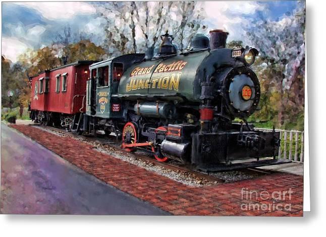 Train At Olmsted Falls - 1 Greeting Card
