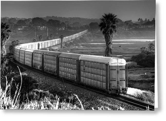 Train At San Elijo Lagoon Greeting Card