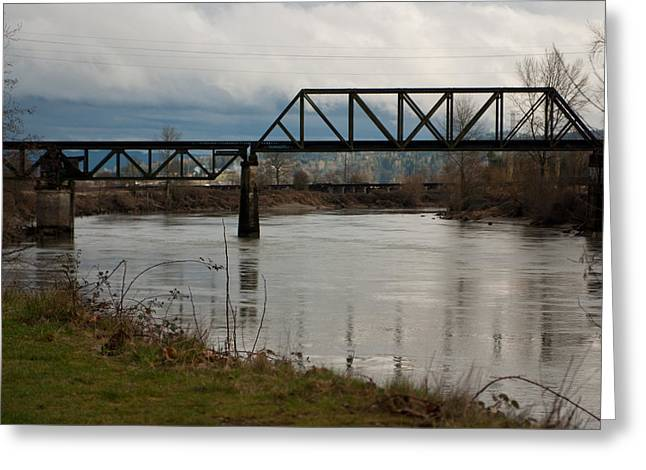 Greeting Card featuring the photograph Train Bridge by Erin Kohlenberg