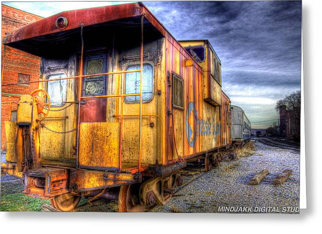 Train Caboose Greeting Card by Jonny D