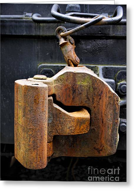 Train Car Coupler Greeting Card