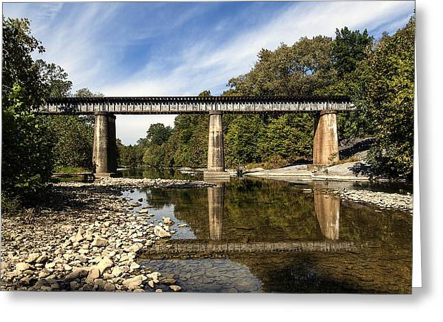 Train Crossing Greeting Card by David Lester