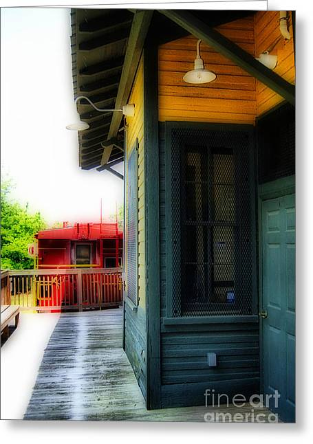 Train Depot Greeting Card by Skip Willits
