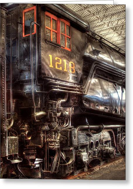 Train - Engine - 1218 - Norfolk Western - Class A - 1218 Greeting Card by Mike Savad