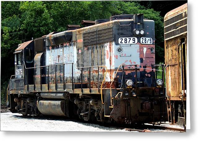 Train Engine #2879 Greeting Card by Mark Moore